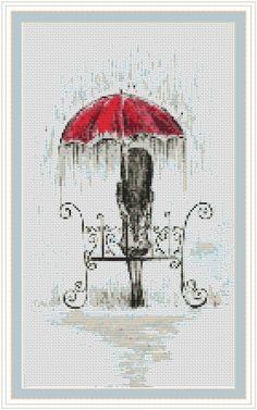 Rain cross stitch pattern, cross stitch pdf, abstract cross stitch, sweet thing p . Counted Cross Stitch Patterns, Cross Stitch Designs, Cross Stitch Embroidery, Embroidery Patterns, Hand Embroidery, Crochet Patterns, Card Patterns, Embroidery Techniques, Cross Stitching