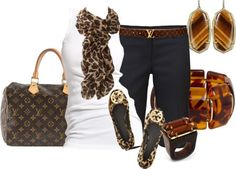 jeans, white tee, animal print scarf & ballet flats, tortoise shell accessories