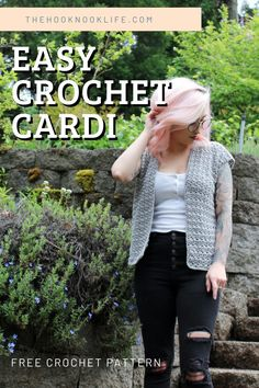 Make the Easy Breezy Summer Cardi! This cute cardi can be worn in more than just the summer, how cute would it look over long sleeves or a turn neck this fall!?   Save and Click to get started making yours now!  #freecrochetpattern #DIYCrochet #womenscrochetcardigan #shortsleevecardigan