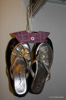 Flip flop hangers DIY