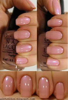 Bliss: OPI Hawaiian Orchid is adorable! pink shade with subtle tone of purple and beige.Glitz Bliss: OPI Hawaiian Orchid is adorable! pink shade with subtle tone of purple and beige. Cute Nails, Pretty Nails, Opi Nail Colors, Color Nails, Neutral Nails, Garra, Colorful Nail Designs, Opi Nails, Tips Belleza