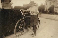 size: Photographic Print: Luther Wharton Aged 12 by Lewis Wickes Hine : Lewis Hine, Bike Messenger, Old Bicycle, Youth Culture, Luther, Vintage Photographs, Historical Photos, Drugs, Texas