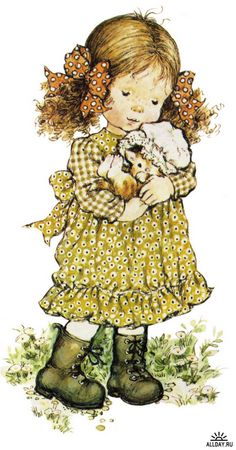 Immagini Sara Kay e Holly Hobbie Sarah Key, Holly Hobbie, Sara Key Imagenes, Australian Artists, Cute Images, Retro Images, Cute Little Girls, Cute Illustration, Vintage Children
