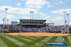 The Kentucky softball team plays here at John Cropp stadium. Kentucky fans gather here to support the softball team and their struggle to get to the world series.