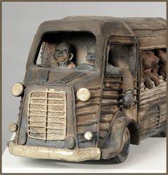 Gervais, Joelle, Raku Pottery, Winter Painting, Ceramic Clay, Art Object, Clay Creations, Earthenware, Sculpture Art