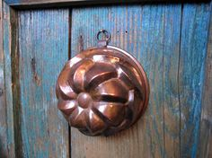 Vintage COPPER JELLO MOLD with Hanging Eyelet  Wall Decor