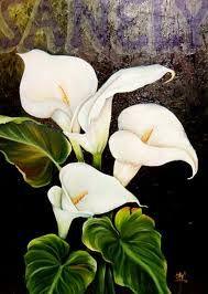 Resultado de imagen de oleos de flores