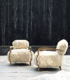 The Cabana Yeti chair is made with luxurious thick long-haired New Zealand sheepskin. Distinctive furniture by Timothy Oulton.