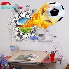 #Football on Fire Through Walls Removable #WallSticker