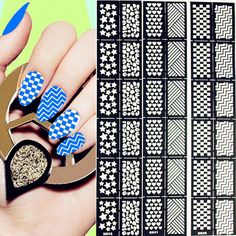 Miss audrey sue blog diy nail art decals silhouette file 12tipssheet nail vinyls easy use nail art manicure stencil stickers 6 patterns solutioingenieria Choice Image