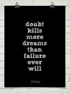 Zet  twijfel aan de kant en ga ervoor. Je doet het zelf en je kan het.