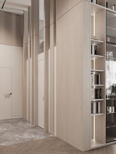 Hallway #hallway #modernhallway #minimalistichallway #minimalism #minimalisticarchitecture #minimalisticinterior #architecture #modernarchitecture #design #moderndesign #ideasforhallway Modern Hallway, Minimalist Interior, Modern Architecture, Tall Cabinet Storage, Minimalism, Modern Design, Divider, Room, Furniture