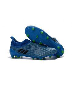 sale retailer a4362 4f31f Adidas MESSI 16 Pureagility FG-AG FODBOLDSTØVLE BLØDT UNDERLAG  KUNSTGRÆSfodboldstøvler blå sort grøn