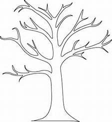 fall tree template