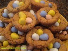 Chocolate Eggs in a Cookie Basket via Celiac Family