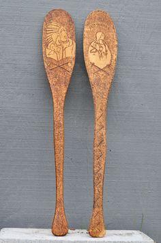 https://www.etsy.com/listing/469937334/native-american-theme-wood-oar-set-hand?ref=shop_home_feat_4 #native #American #tribal #oars #oar #boat #canoe #dakota #minnehana