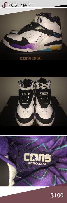 quality design 5fc76 59bf2 Converse Aero Jam Mid White. Converse Aero Jam Mid White Larry Johnson  Grandma Hornets Retro Classic sneaker .like new condition , used twice .