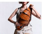 SALE NEW YEAR Leather Messenger Backpack Men's Messenger Bag- Cool Designer Beetle back for men or for Women Cute Chest Bag-Best Quality