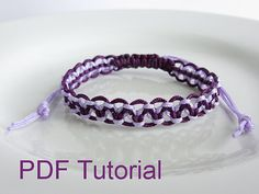 This listing is for a 11 page PDF pattern and tutorial, for an alternating square knot macrame bracelet. The PDF tutorial comes with step-by-step instructions and photos to make an alternating square knot bracelet with an adjustable slider closure either in a single colour, or in two colours. If you use 1mm waxed nylon cord (as used in this pattern) the width of the bracelet is 9mm with a length of 6 (15¼cm) which can adjust to add an additional 4 (10¼cm). However, the length of the bracelet…