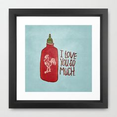 TRUE LOVE Framed Art Print