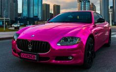 pink, car, and maserati image