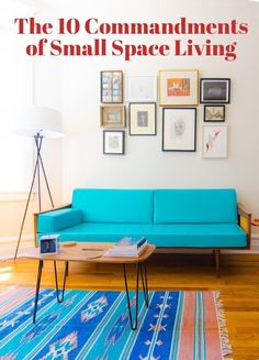 Small Spaces: 10 Commandments of Small Space Living Small Space Living, Living Spaces, Living Room, Tiny Spaces, Small Apartments, Studio Apartments, Decorating Small Spaces, Interior Decorating, Apartments Decorating