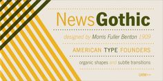 News Gothic™ font download