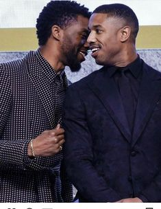 Chadwick Boseman and Michael B. Jordan at the asian premiere of Black Panther