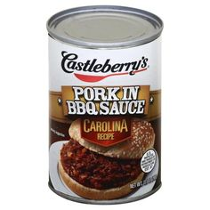 Castleberrys Pork in BBQ Sauce, Carolina Recipe