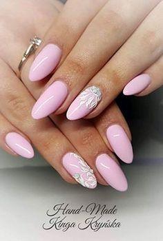 Delikatny Rose Quartz by Kinga Kryńska Indigo Young Team #nails #nail #indigo #rose #quartz #pink #pastel #spring #new #summer #spring