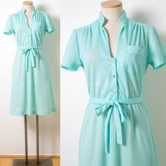 Vintage Mint Green Dress Mad Men Dress 60s by TrendyHipBuysVintage