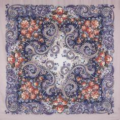 Павлопосадские платки : Секрет успеха 1635-1, павлопосадский платок шерстяной с шелковой бахромой