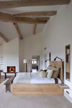 Minimal yet cosy. Looking for a solid wood bed? Try www.naturalbedcompany.co.uk
