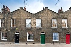 straight on view of 44 Roupell Street, London -- 2 bed terraced house. Several interior images.