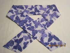 """Extra Wide 3"""" Reusable Non-Toxic Cool Wrap / Neck Cooler  - Animal Prints - Butterflies - Lavender by ShawnasSpecialties on Etsy"""