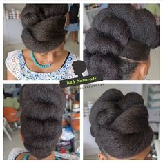 natural hair updo This could definitely work for a natural hair bride, cute prot. - natural hair updo This could definitely work for a natural hair bride, cute protective styles - Curled Updo Hairstyles, Protective Hairstyles For Natural Hair, Roll Hairstyle, Crown Hairstyles, Elegant Hairstyles, Updos, Dreadlock Hairstyles, Black Hairstyles, Hairstyle Ideas