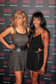 Cathy Guetta and Naomi Campbell