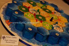 Mini Catan Cakes, via Flickr.