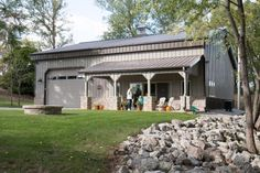 This hobby building was built for Bill & Patricia of Bainbridge, OH  Special Features:    Morton's Hi-Rib Steel  Cupola  Porch  Stone & Steel ...