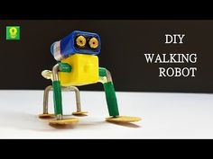 How to make Cute Walking Robot - simple DIY Robot Robotics Projects, Science Projects, Arduino Projects, Make A Robot, Diy Robot, Robots For Kids, Diy Electronics, Electronics Projects, Bricolage