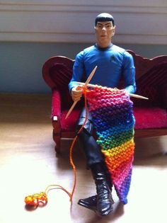 Spock knitting
