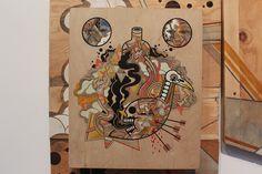 Wood street artists plywood David Polka Schism Oakland Art