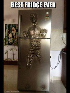 The coolest part of a man cave is its fridge
