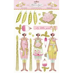 tilda paper cutouts | tilda cut out kitchen garden £ 3 79 comment 7 kitchengarden decoupage ...