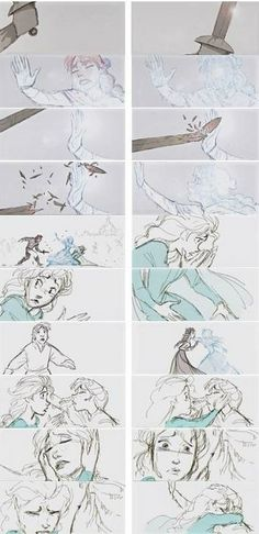 53 new Ideas for drawing disney frozen animation studios Disney Sketches, Disney Drawings, Drawing Disney, Art Drawings, Drawing Designs, Art Sketches, Animation Storyboard, Disney Animation, Storyboard Drawing