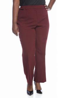 2e001c81119 John Meyer Plus Size Wine Pant Suit Wine Pants