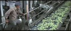 Inside the Soylent Green factory, where the elderly are turned into food. Soylent Green, The Exorcist, The Last Picture Show, Steven Spielberg, Cult Movies, The Godfather, Real Life, Old Things, World