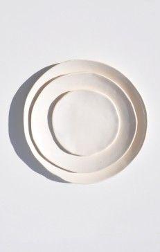 // Akiko Graham White Porcelain Plates