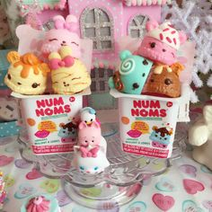 kittywood: New Num Nom ice cream toys I picked up to turn into phone charms! They are scented too!