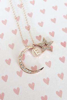 Love you to the Moon and Back necklace Cubic by ColorMeMissy